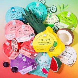 买2送1 变相6.6折+自选中样夏日必败:Sephora Collection 片装面膜大促 每片仅$4.7