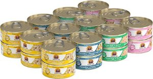Weruva Paw Lickin' Pals Variety Pack Grain-Free Canned Cat Food, 5.5-oz, case of 24 - Chewy.com