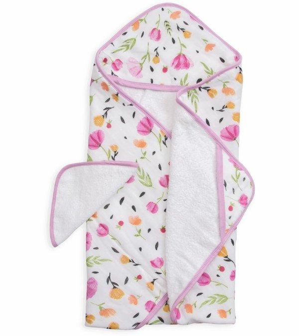 棉质连帽浴巾+小手帕