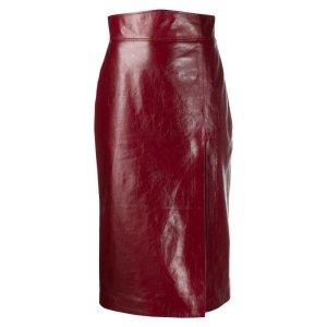 Gucci倪妮同款皮裙