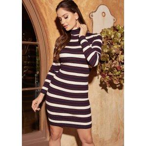 BebeStriped Sweater Dress