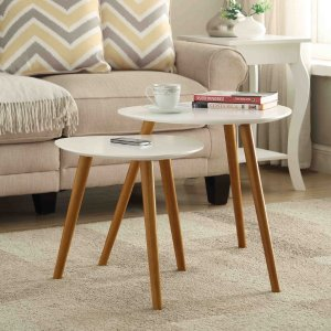 Oslo 2-Piece Nesting End Table Set - Midcentury - Coffee Table Sets - by Convenience Concepts