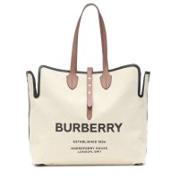 Burberry Logo canvas 托特包
