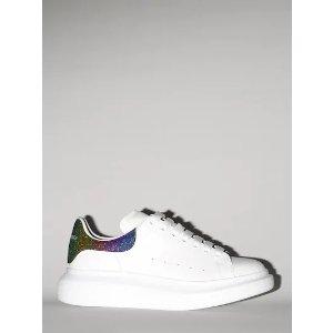 Alexander McQueen彩尾小白鞋