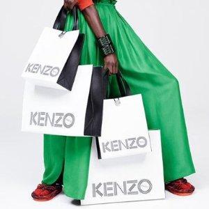 低至4折 €110收Logo针织衫Kenzo 服饰、包包热卖 经典潮牌永不过时
