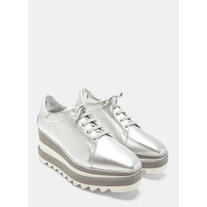 89ae155f2e37 Stella McCartneyElyse Metallic Platform Sneakers in Silver
