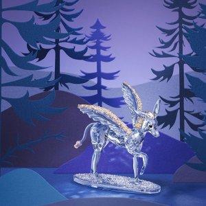 特价区5折起+满额得3重礼Swarovski 水晶摆件专题 收水晶烛台、星座小熊
