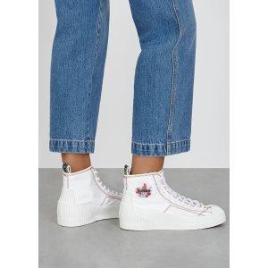 KenzoVolkano white canvas hi-top sneakers