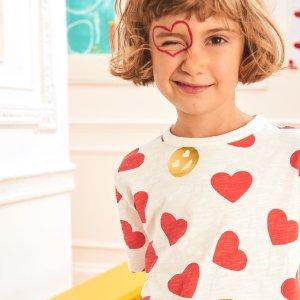 8折 多数州无税Mini Boden童装官网 情人节新款上市,喜庆红色过年穿