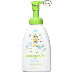 婴儿专用餐具奶瓶泡沫清洁剂 16盎司,3瓶装