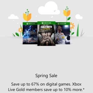 Up to 67% Off + Extra 10% OffXbox Games Spring Sale