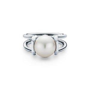 Tiffany HardWear 珍珠戒指