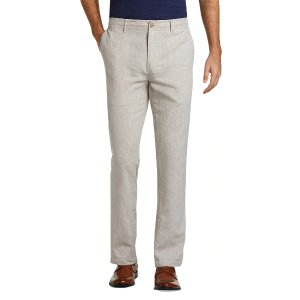 Reserve Collection Tailored Fit Flat Front Linen Pants