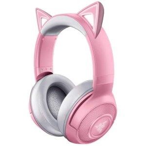 RazerRZ04-03520100-R3M1 Kraken BT Kitty Edition Headset, Quartz/Pink