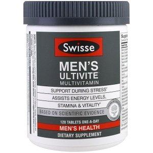 Swisse Mens Ultivite Multivitamin, Men's Health, 120 Tablets