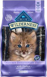 Blue Buffalo Wilderness Kitten Chicken Recipe Grain-Free Dry Cat Food, 5-lb bag - Chewy.com