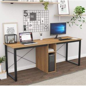 $99(原价$199.99)Soges 双人办公桌 抗磨耐用桌面 满足家庭办公需求