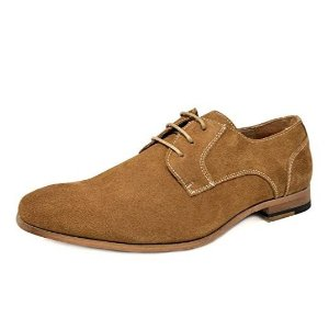 Bruno Marc Men's Suede Leather Oxford Classic Dress Shoes on Sale