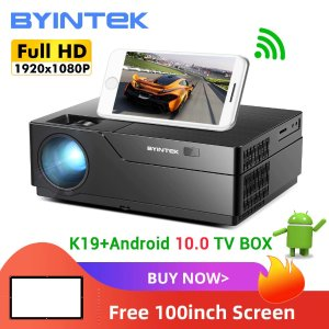 全店铺通用码DEALMOON10BYINTEK K19 全高清 1080p 500流明 300吋超大屏投影仪