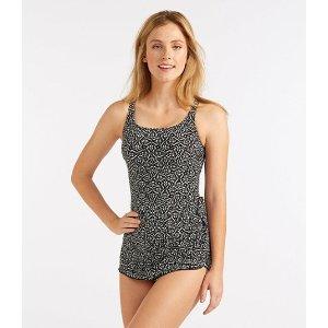 Slimming Swimwear, Sarong Tanksuit Print