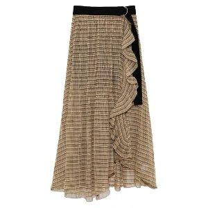 格纹优雅半身裙