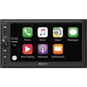 $269.99 (原价$399.99)史低价:索尼 XAV-AX100 6.4吋车载影音娱乐主机 支持CarPlay/Android Auto