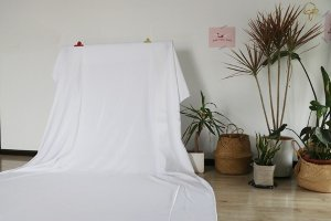ins风白色拍照挂墙背景布 卷边处理不脱线 北欧冷淡风