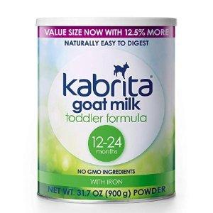 $32.39(原价$46.27) 牛奶敏感宝宝的福音Kabrita 幼儿山羊配方奶粉,31.7盎司