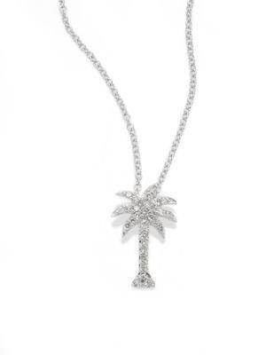 钻石小椰树项链