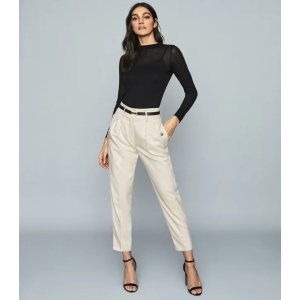 ReissBrooklyn Neutral Pocket Front Tapered Trousers – REISS