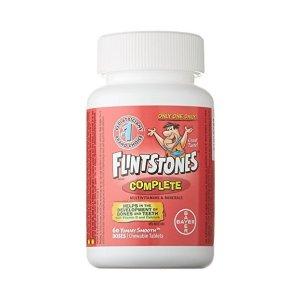 $9.47(原价$16.71)Flintstones 拜耳儿童复合维生素片 60片装