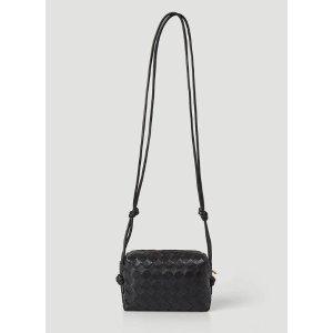 Bottega VenetaLoopIntrecciatoShoulder Bag in Black