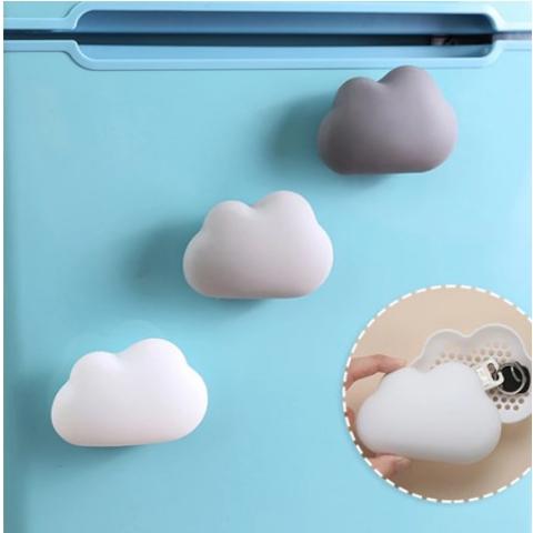 5.7折 €3.02收云朵冰箱除臭贴 竹炭吸湿、抑菌、除臭 吸盘吸附 节省空间