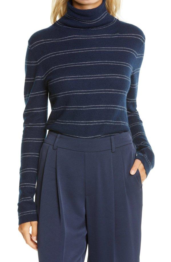 羊绒条纹毛衣