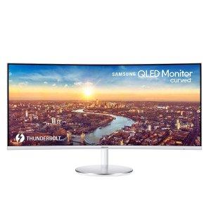 $699 (原价$899.99)Samsung 34'' CJ791 雷电3 QLED 曲面带鱼屏显示器