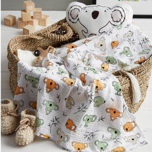 低至$9.99 (原价$14)上新:Simons 穆斯林棉宝宝薄毯  给baby透气的温柔呵护