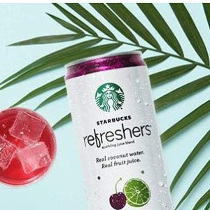 $11.73Starbucks Refreshers Sparkling Juice Blends, Black Cherry Limeade with Coconut Water, 12 Fl. Oz, 12 Cans