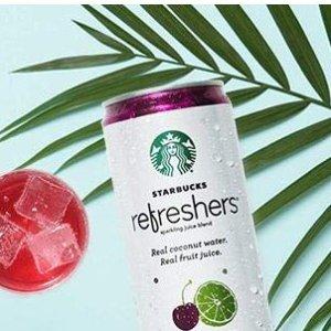 $11.73 免邮 三口味可选Starbucks 提神饮料 樱桃柠檬口味 355ml 12罐