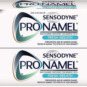 $8.17(原价$11.29)Sensodyne 强化珐琅质清新牙膏 4oz 2支