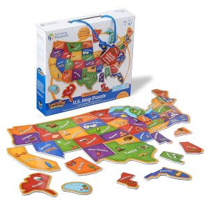 Learning Resources Magnetic U.S. Map Puzzle, 44 Pieces, Ages 3+