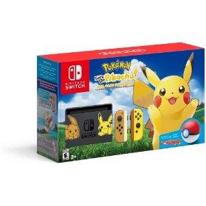 NintendoSwitch 皮卡丘版套装 + $25礼卡