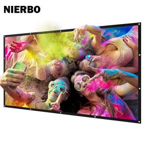 $86.7包邮(原价$102) 16:9 100英寸屏闪购:NIERBO 家用投影屏幕 大银幕 比篮板还要大