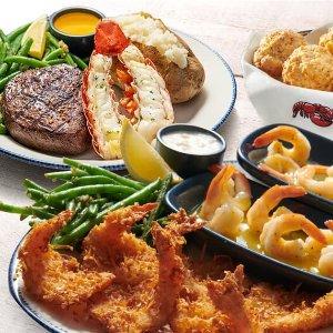 $11.99起 一周5天换样吃Red Lobster 海鲜套餐优惠,龙虾、炸鳕鱼、烤大虾任你选
