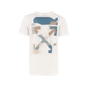 Off-WhiteArrow Print Cotton T-shirt