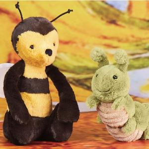 变相8折 收毛毛虫玩偶Jellycat 毛绒玩偶促销 牛油果、毛毛虫、蜂后都参加