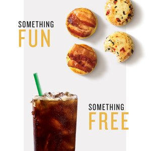 free handcrafted drinkStarbucks Weekend Activities