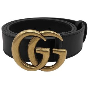 Gucci尺寸85cm黑色GG腰带