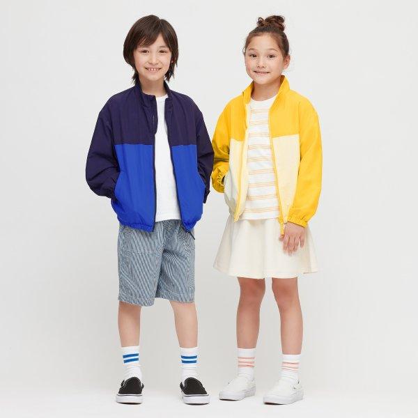 儿童拼色外套