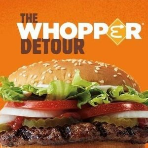 $0.01 Burger King App Order a Whopper at Any McDonald's Location