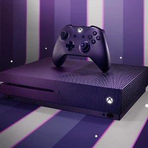 $299.96(原价$379) 紫色也太好看了吧XBOX One S 堡垒之夜套装 买一送七 全套加成